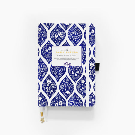 A5 Green Leaf Dot Grid Notebook