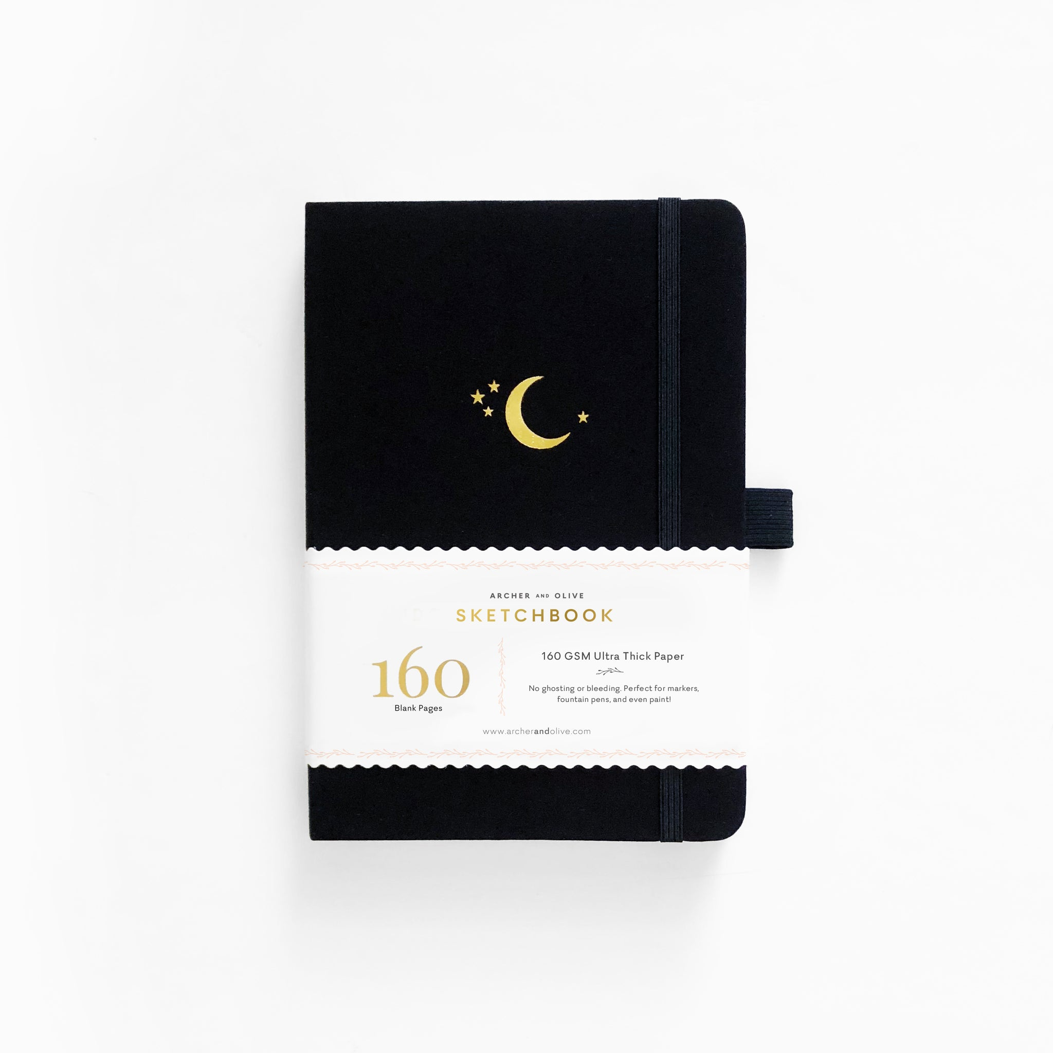 A5 Crescent Moon Blank Pages Notebook