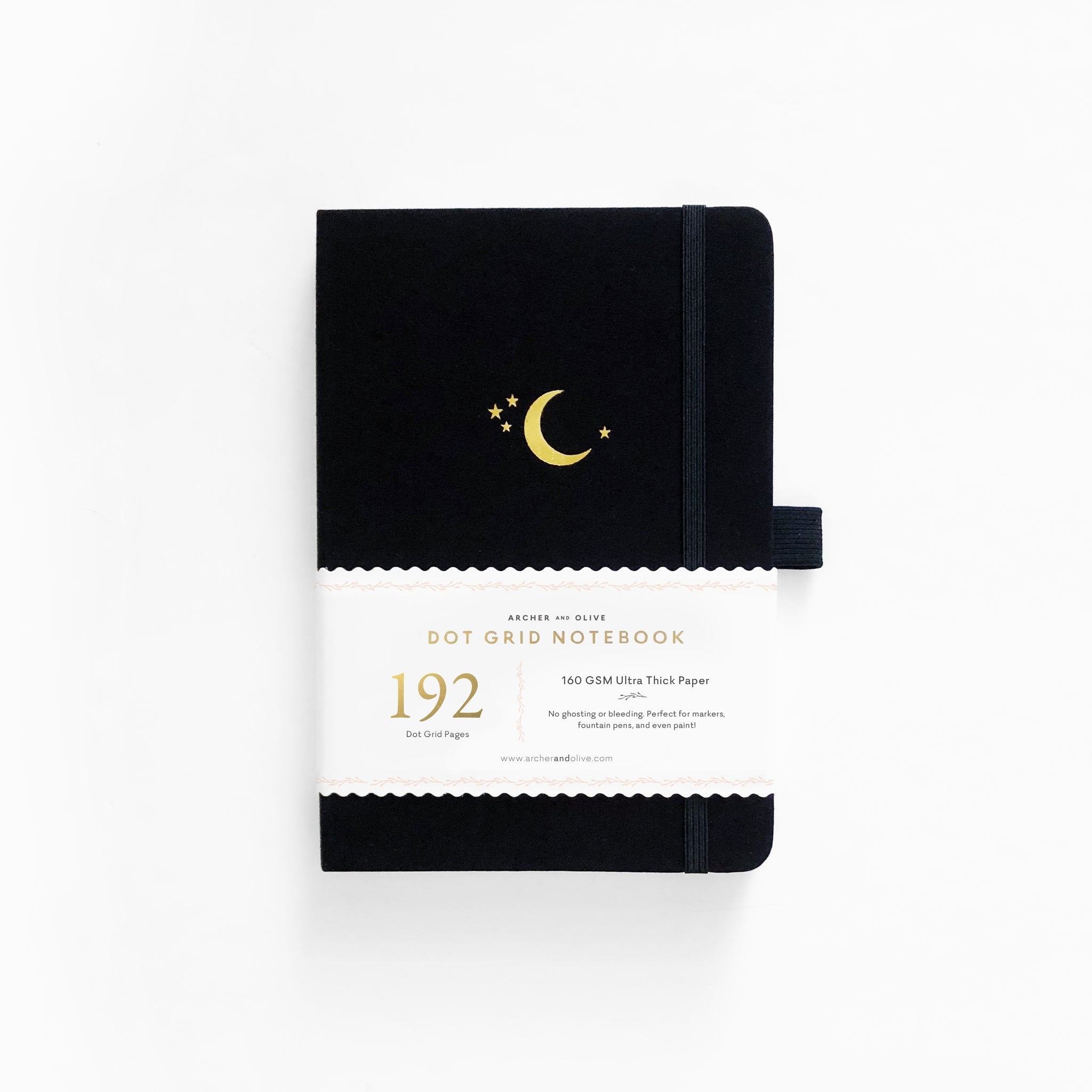 A5 Crescent Moon 192 Pages Dot Grid Notebook