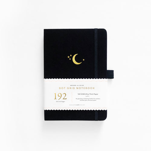 PREORDER - B6 Crescent Moon Dot Grid Notebook | SHIPS IN APRIL