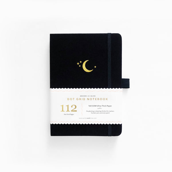 B6 Crescent Moon Dot Grid Notebook