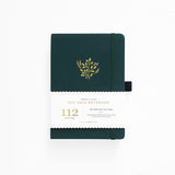 B6 Deep Green Dot Grid Notebook