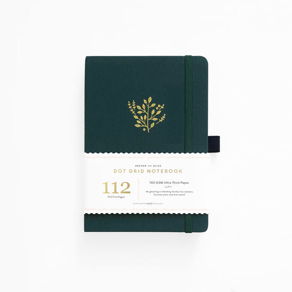 PREORDER - B6 Deep Green Dot Grid Notebook | SHIPS IN APRIL