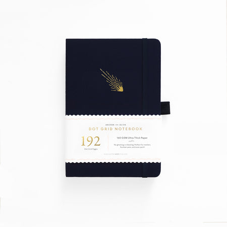 A5 Rose Gold Dot Grid Notebook With Gold Gilded Edges
