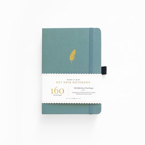 A5 Floating Feather Dot Grid Notebook