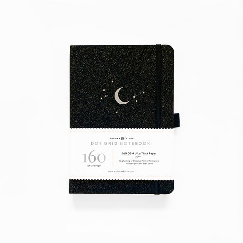 A5 Forest Night Dot Grid Notebook