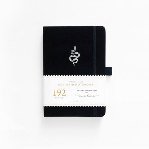 A5 Garden Slither Dot Grid Notebook With 192 Pages!
