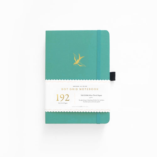 A5 Gliding Swallow Dot Grid Notebook With 192 Pages!