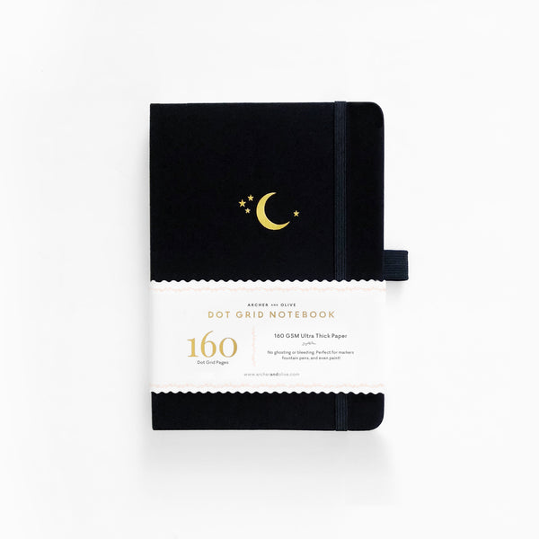 B5 Crescent Moon Dot Grid Notebook