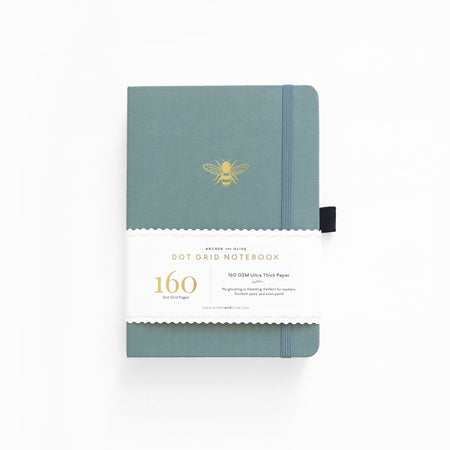 B5 Light Blue Dot Grid Notebook