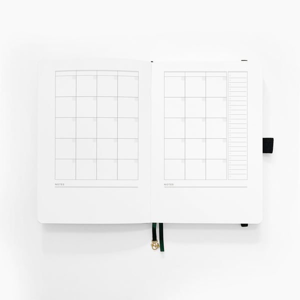 A5 Planner - Verdant Ventures | Undated 12 Month Personal Planner