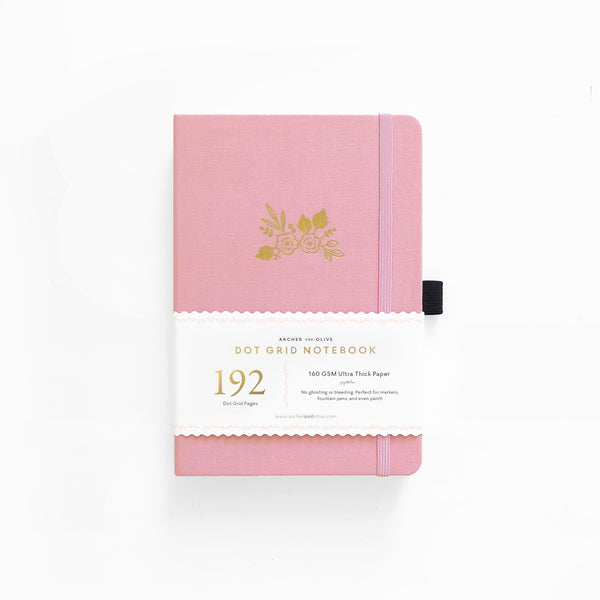 A5 Light Pink Dot Grid Notebook With 192 Pages!