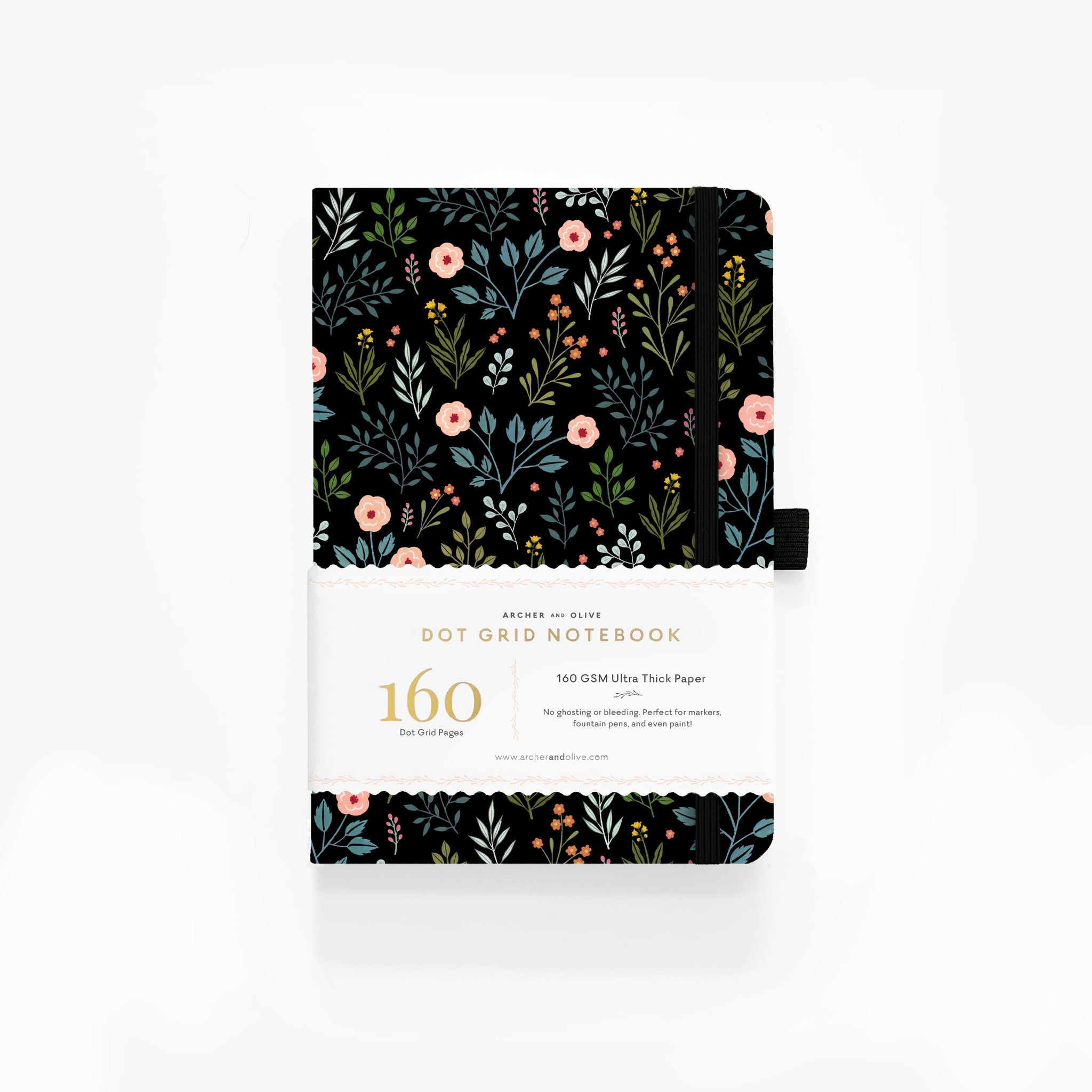 A5 Night Garden Dot Grid Notebook