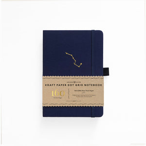 A5 Night Sky Kraft Paper Dot Grid Notebook