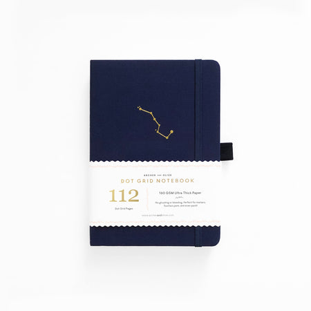 B6 Dark Blue Dot Grid Notebook