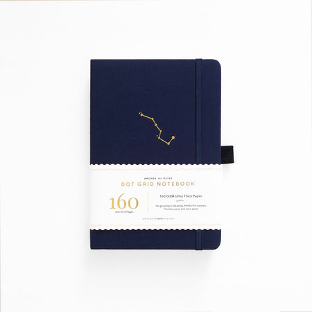 A5 Dark Blue Dot Grid Notebook