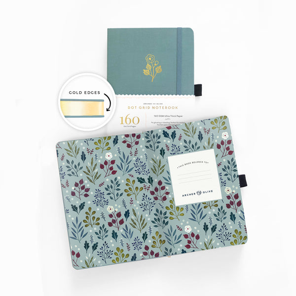 PRE-ORDER - LIMITED EDITION Lovely Rose A5 Dot Grid Notebook With Gold Gilded Edges  | SHIPS IN APRIL