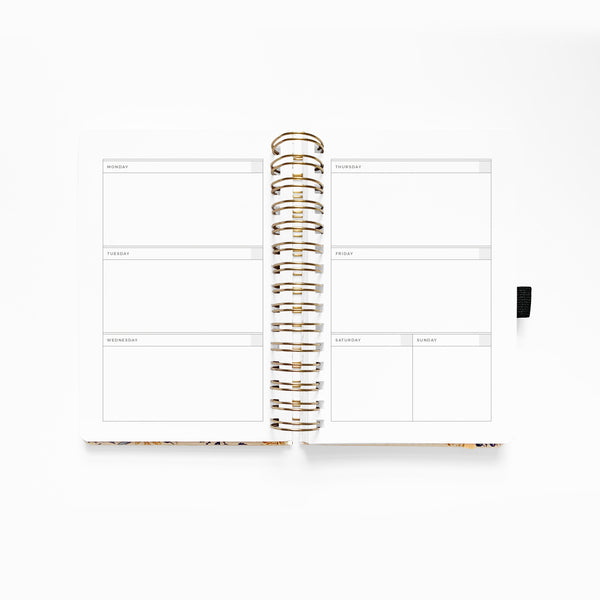 A5 Spiral Planner - Blush-A-Bye | Undated 12 Month Personal Planner