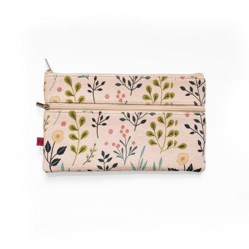 Pink Flowers  |  Pencil Pouch Attaches to Journal