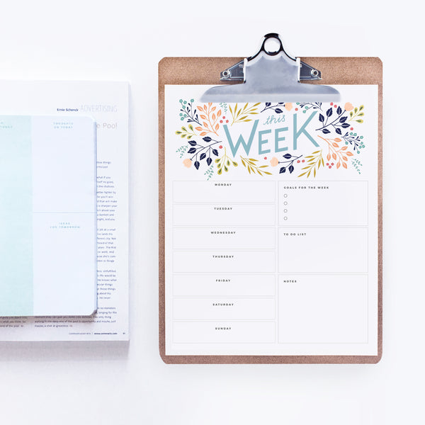picture about Weekly Planner Printable called This 7 days - Planner Printable