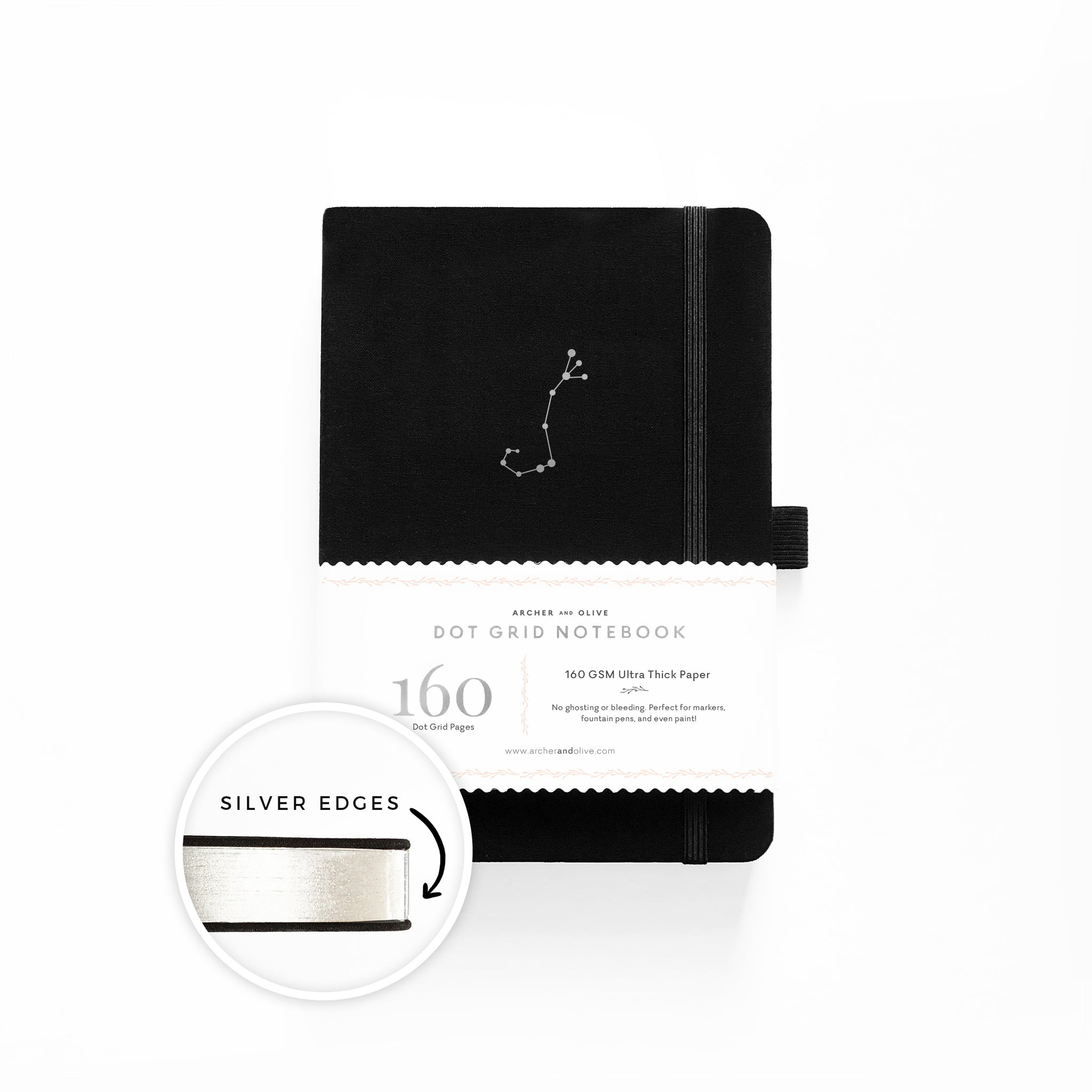 A5 Zodiac - Scorpio Dot Grid Notebook