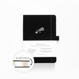 PRE-ORDER - Shooting Star A5 Dot Grid Notebook With Silver Gilded Edges | SHIPS IN APRIL