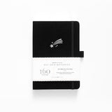 PRE-ORDER - A5 Shooting Star Dot Grid Notebook With Silver Gilded Edges | SHIPS IN APRIL