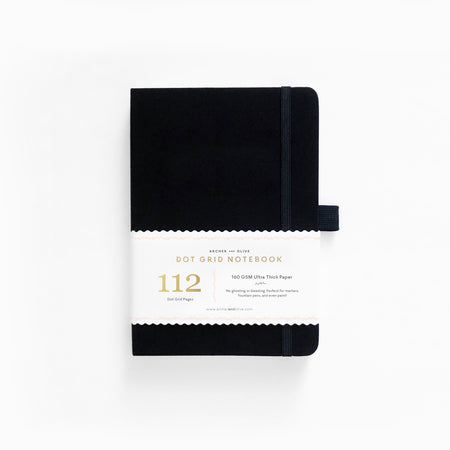 B6 Dark Green Dot Grid Notebook