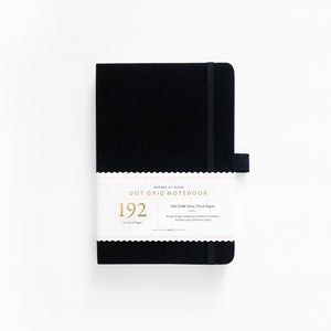 A5 Black 192 Pages Dot Grid Notebook