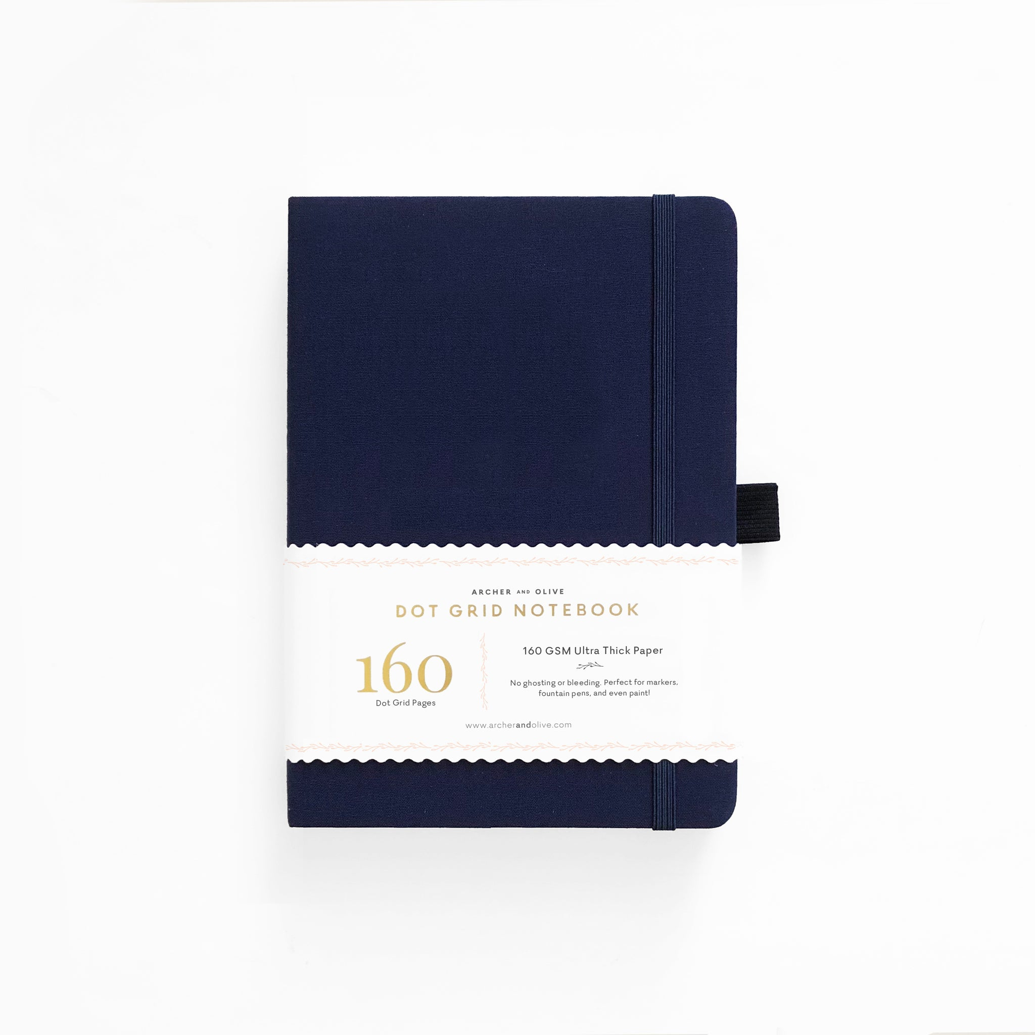 B5 Dark Blue Dot Grid Notebook