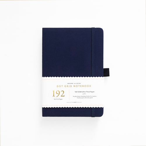 A5 Dark Blue Dot Grid Notebook With 192 Pages!