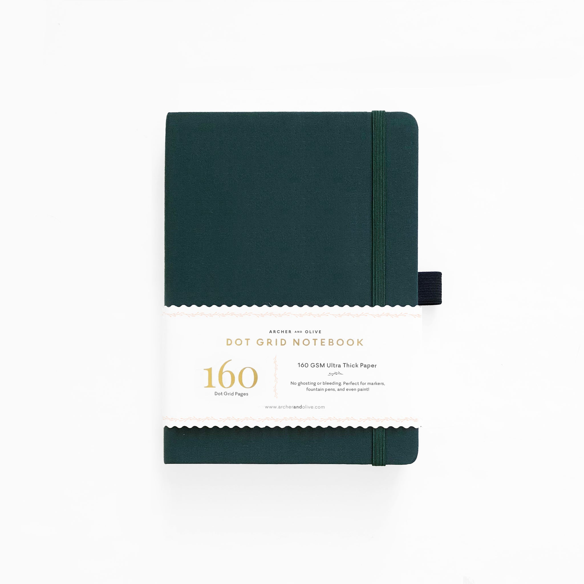 B5 Dark Green Dot Grid Notebook