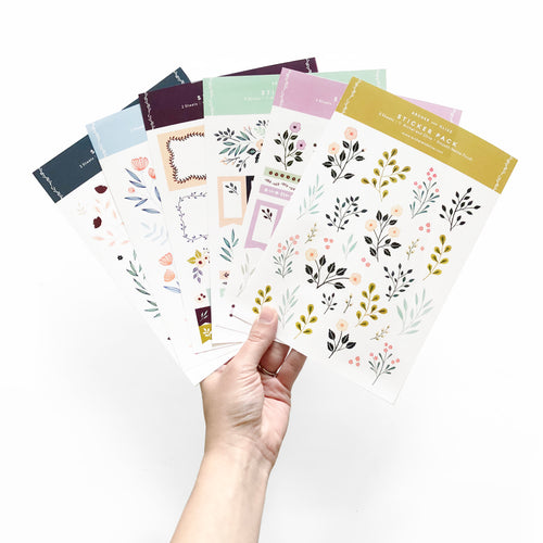 Pack of 6 Planner Stickers | Bullet Journal Stickers