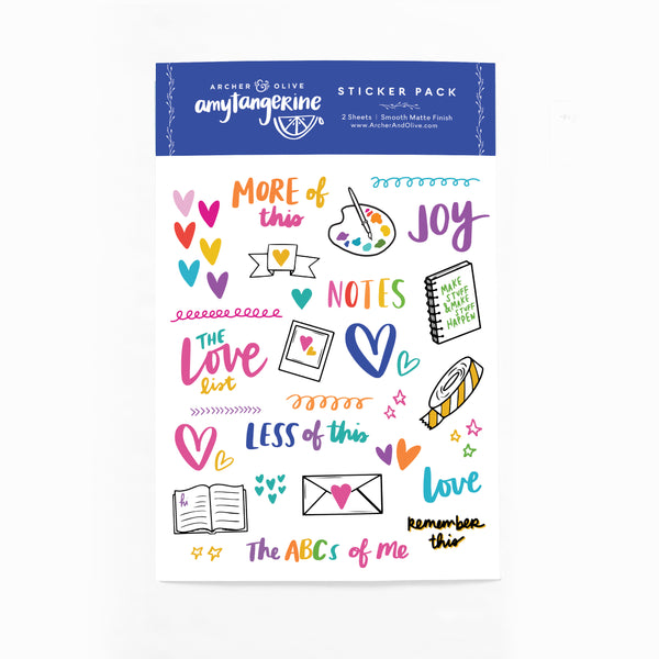 Amy Tangerine For Archer & Olive Dated 2020 Planner + Sticker Pack