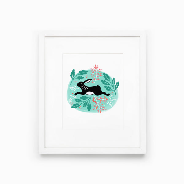 Printable Good Luck Rabbit - 8x10