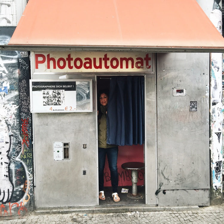Vintage photo booth in Berlin