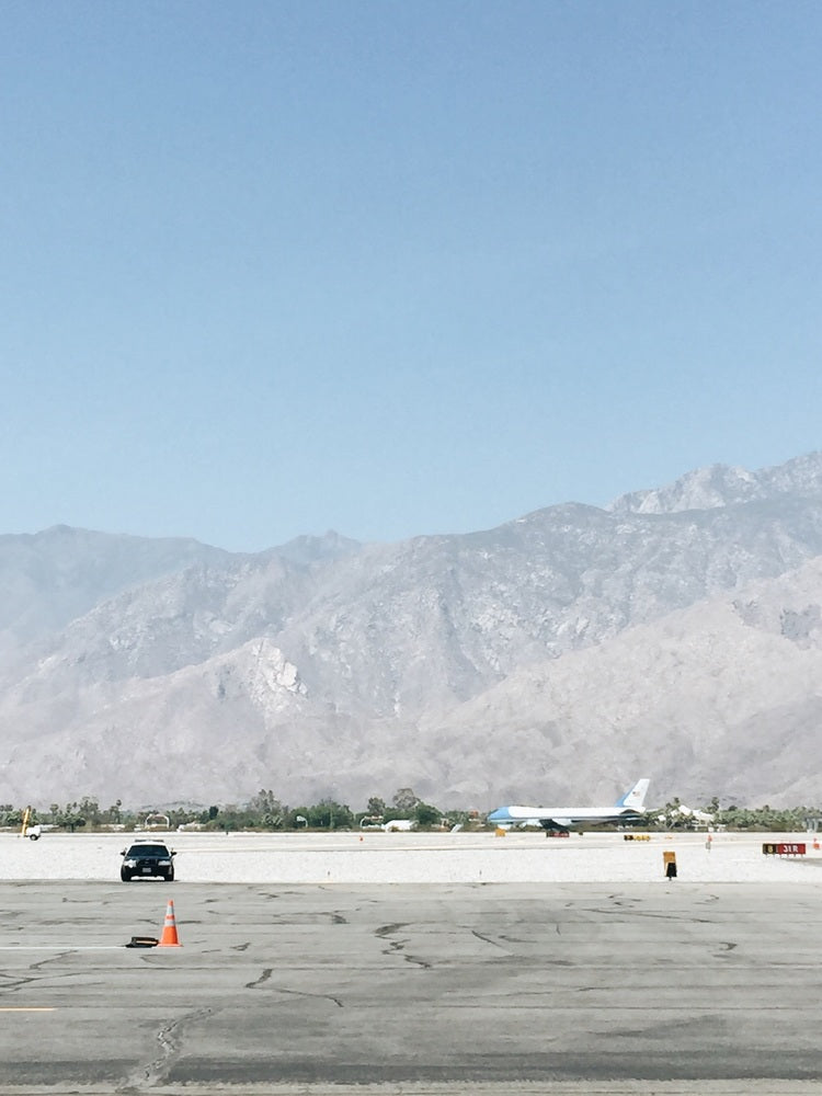 Air Force One at the Palm Springs Airport.