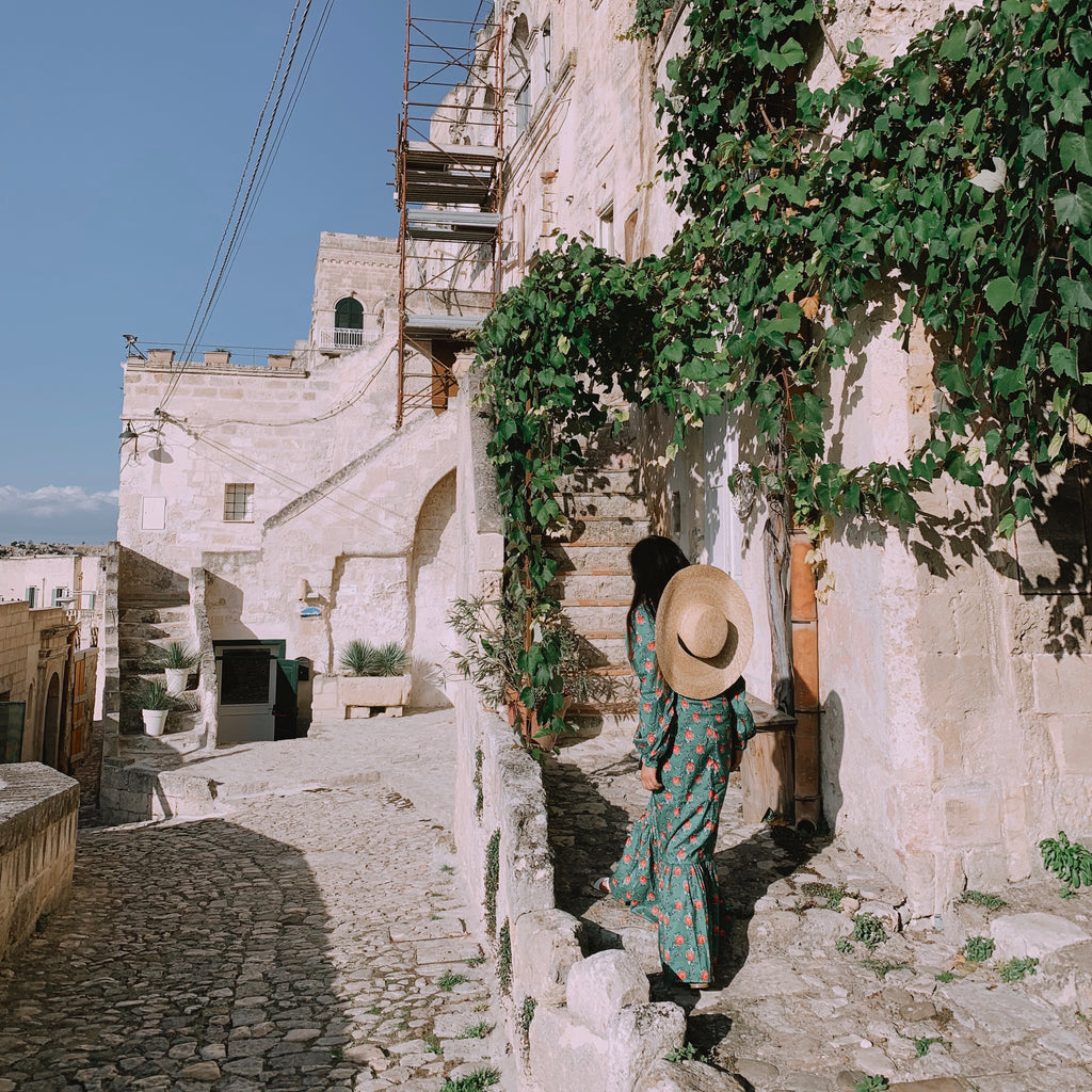 Strolling through Matera's narrow streets and alleyways