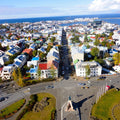 Top and clear view of Reykjavik, Iceland