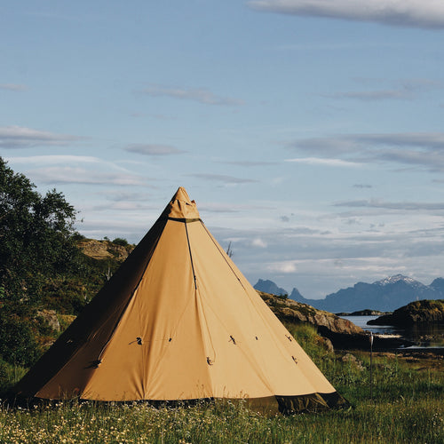 Norway glamping tent in Lofoten