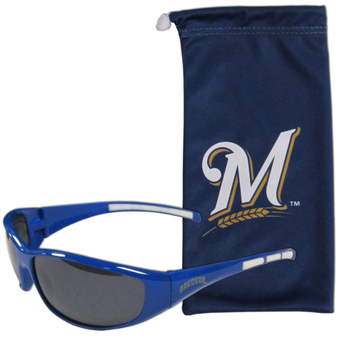 Milwaukee Brewers Sunglass and Bag Set