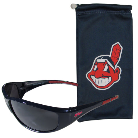 Cleveland Indians Sunglass and Bag Set