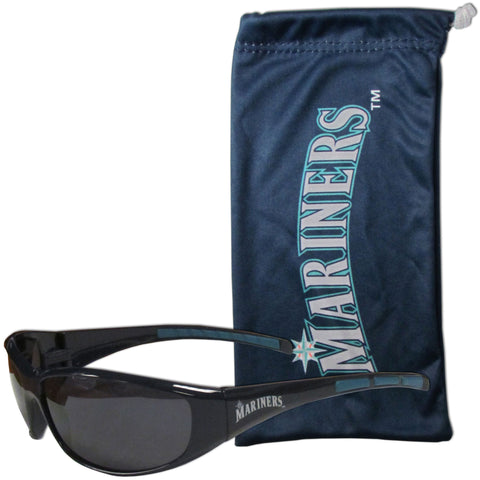 Seattle Mariners Sunglass and Bag Set