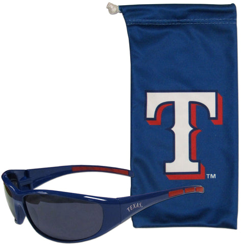 Texas Rangers Sunglass and Bag Set