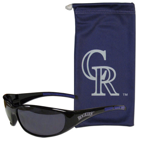 Colorado Rockies Sunglass and Bag Set