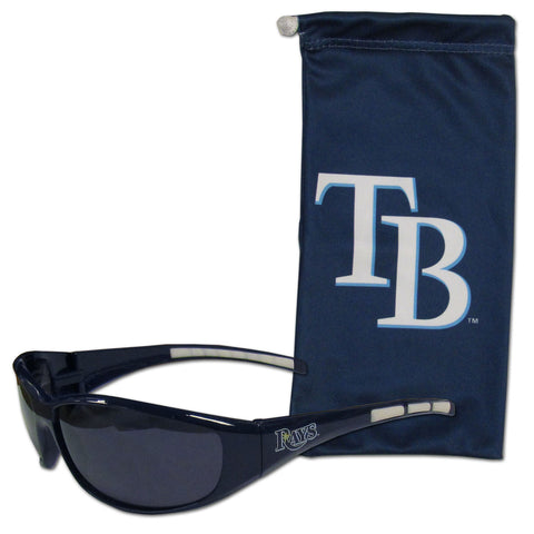 Tampa Bay Rays Sunglass and Bag Set