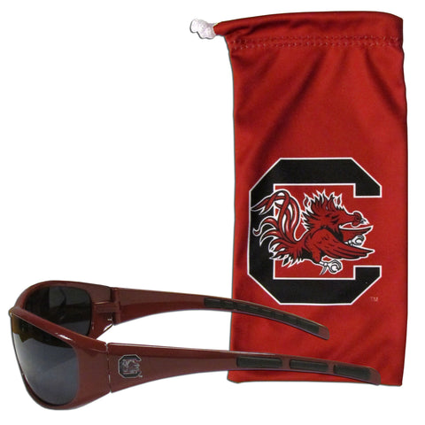 S. Carolina Gamecocks Sunglass and Bag Set