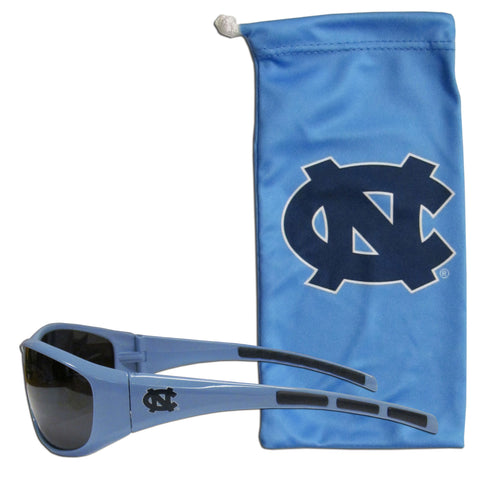 N. Carolina Tar Heels Sunglass and Bag Set