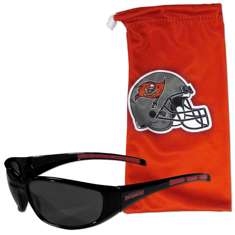 Tampa Bay Buccaneers Sunglass and Bag Set