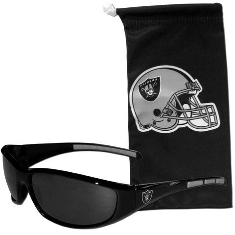 Oakland Raiders Sunglass and Bag Set